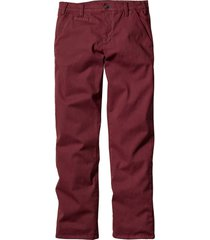 pantaloni chino elasticizzati slim fit (rosso) - bpc bonprix collection