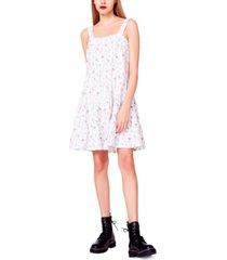 betsey johnson rosebud eyelet fit & flare dress