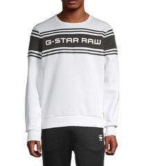 g-star raw men's swando logo sweatshirt - white - size xl