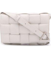 bottega veneta padded cassette crossbody bag - white