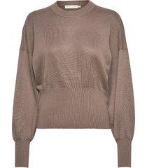 yasmineiw firm pullover gebreide trui bruin inwear