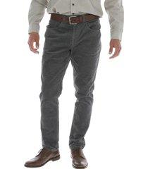 pantalon algodón corduroy gris rockford