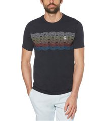 original penguin men's tie dye stripe short sleeve t-shirt