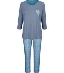 pyjama blue moon rookblauw::jadegroen