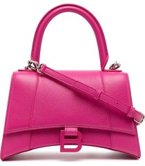 balenciaga hourglass shoulder bag - pink