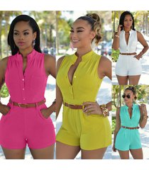 women ladies clubwear playsuit bodycon party jumpsuit romper sleeveless trousers