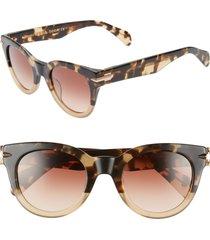 rag & bone core 50mm cat eye sunglasses in havana honey at nordstrom