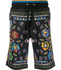 dolce & gabbana stained-glass window bermuda shorts - black