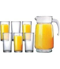conjunto jarra e 6 copos ruvolo athenas, 7 peças
