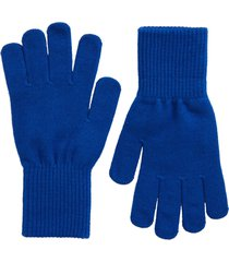 women's nordstrom knit gloves, size one size - blue