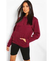 basic oversized hoodie, plum