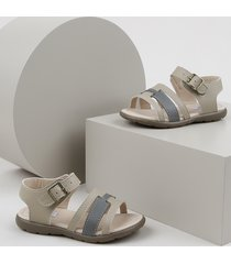 sandália papete infantil sonho de criança bege