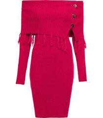 abito in maglia con spalle scoperte (rosso) - bodyflirt boutique