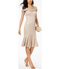 r & m richards lace sweetheart-neck dress