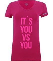 camiseta cuello v it´s you color rosado, talla xs