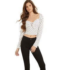 blusa ls jamielyn top p0bx blanco guess