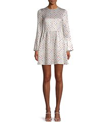 dot-print metallic dress