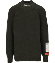 heron preston heron preston logo turtleneck sweater