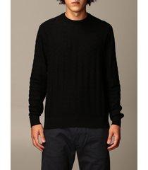 emporio armani sweater emporio armani sweater in houndstooth viscose blend