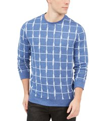 alfani men's jacquard grid sweatshirt, created for macy's