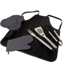 oniva by picnic time bbq apron tote pro grill set