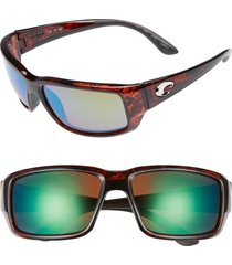 costa del mar fantail 60mm polarized sunglasses in tortoise/green mirror at nordstrom