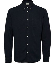 selected homme cotton jacket blauw