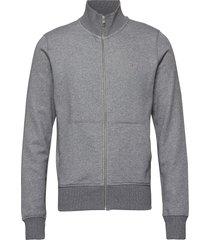 the original full zip cardigan sweat-shirt trui grijs gant