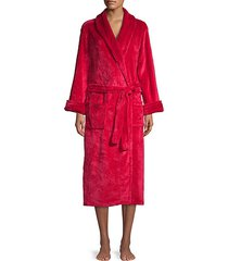textured self-tie robe