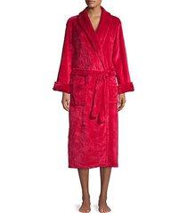 textured self-tie robe
