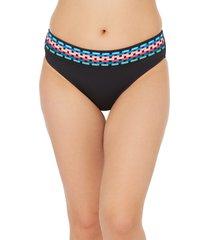 women's la blanca hipster bikini bottoms, size 10 - black