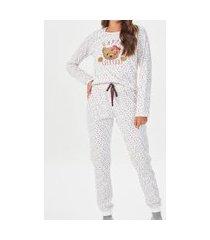 pijama feminino longo espaço pijama 40867 branco