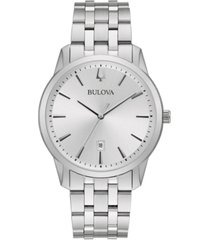 bulova men's classic sutton stainless steel bracelet watch 40mm