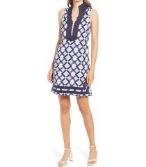women's eliza j sleeveless sheath dress, size 14 - blue