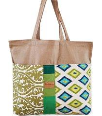 torba xl shopperka zero waste - zielona