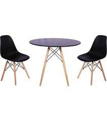 conjunto mesa de jantar impã©rio brazil - incolor/preto - dafiti