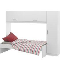 guarda-roupa c/modulo aéreo e cama branco 2650.697 multimóveis