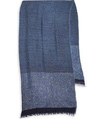saachi women's lenox shimmer oversized scarf - navy