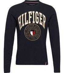 hilfiger varisty long sleeve tee t-shirts long-sleeved blå tommy hilfiger