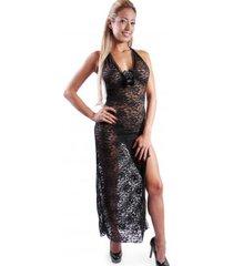 babydoll woman sexy 3036 lenceria ropa interior mujer - negro