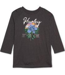hurley juniors' leila cotton graphic raglan-sleeve t-shirt