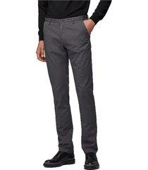 gabardine broek slanke chinos hugo boss - hugo-boss, gray, 52