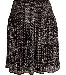 plus ditsy-print chiffon skirt