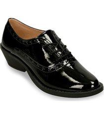 zapatos de cordon negro bata wasp r mujer