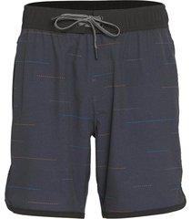 """prana men's ground speed 7.5"""" inseam yoga shorts - black allegro xx-large cotton"""