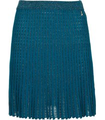 plisse mini rok sea  blauw