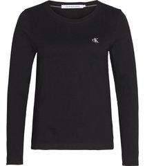 camiseta ck embroidery ls t-shirt calvin klein