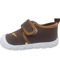 zapatilla velcro marron vinnys outlet