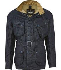 barbour jas donkerblauw met rits en knopen