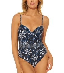 bleu by rod beattie take a dip underwire one-piece swimsuit women's swimsuit
